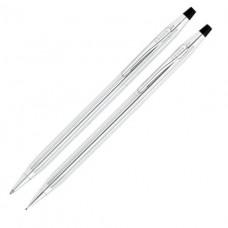 AT Cross Classic Century Lustrous Chrome Ballpoint Pen and 0.5mm Pencil Set