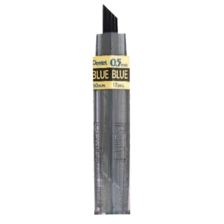 Pentel Colored Lead, 0.5mm Blue 12 Leads
