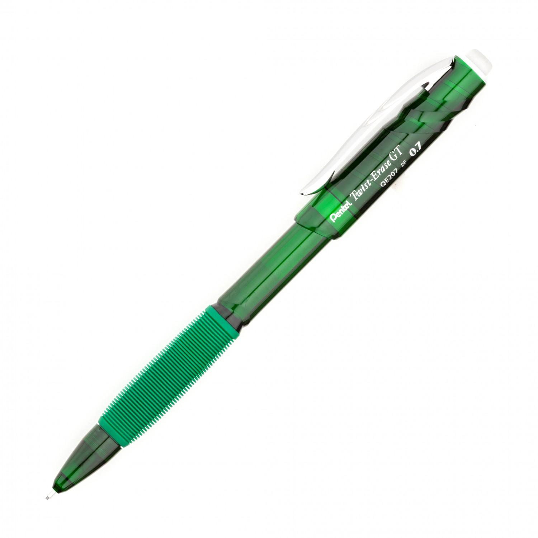 Pentel Twist-Erase GT (0.7mm) Mechanical Pencil Transparent green
