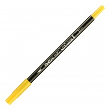 Marvy Le Plume II Double Ended Watercolor Marker, Yellow