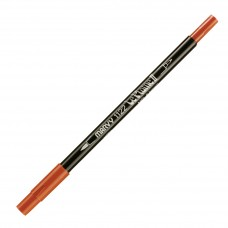 Marvy Le Plume II Double Ended Watercolor Marker, Brown