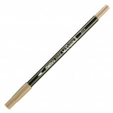 Marvy Le Plume II Double Ended Watercolor Marker, Taupe