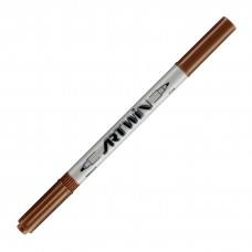 Marvy Artwin Double Ended Marker Burnt Umber