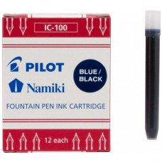 Namiki IC-100 Fountain Ink Cartridge, Blue 12pk