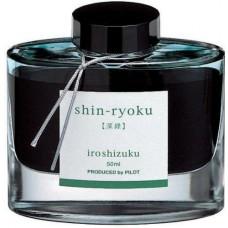 Namiki Iroshizuku Bottled Fountain Pen Ink, Shin-Ryoku, Forest Green