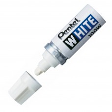 Pentel White Marker Perm Ink Broad Point