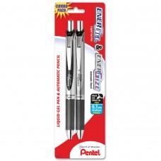 Pentel EnerGel Deluxe RTX Retractable Gel Pen Medium Line & Energize Mechanical Pencil Combo Set