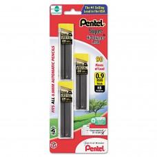 Pentel Super Hi-Polymer 0.9mm Med Lead 30/pk