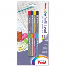 Pentel Arts 8 Color Refill Lead, Assorted Colors, 8 Pack