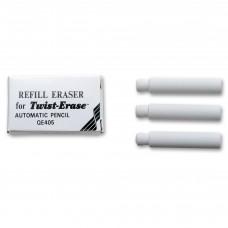 Pentel Twist Erase Refill Eraser 3pk