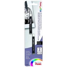 Pentel Arts Pocket Brush Refills - Black Ink 2-Pk Carded