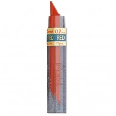 Pentel Colored Lead, 0.7mm Red 12 Leads