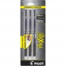Pilot FriXion Point 3 pack Blk