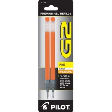 Pilot BG27R G2 Gel Ink Refills, Fine, Orange