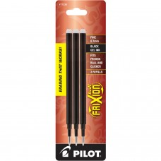 Pilot FriXion Refill, Fine Point, Black, 3pk