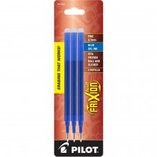 Pilot FriXion Refill, Fine Point, Blue, 3pk