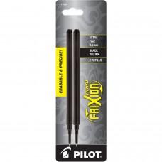 Pilot FriXion Refill, XF Point, Black, 2pk