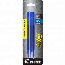 Pilot FriXion Refill, XF Point, Blue, 3pk