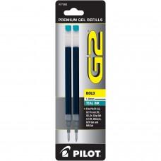 Pilot BG21R G2 Gel Ink Refills, Bold, Teal