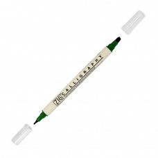 Zig Double Calligraphy Pen, Evergreen
