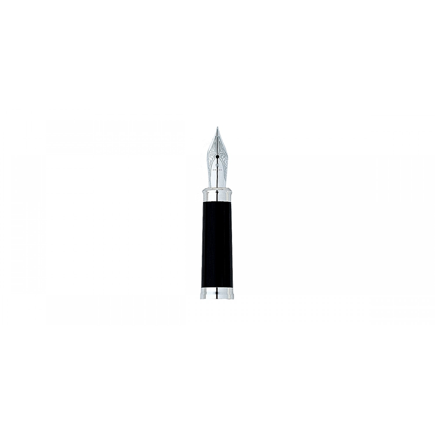 AT Cross Century II Stainless Steel Fine Nib and Chrome Nib Ring