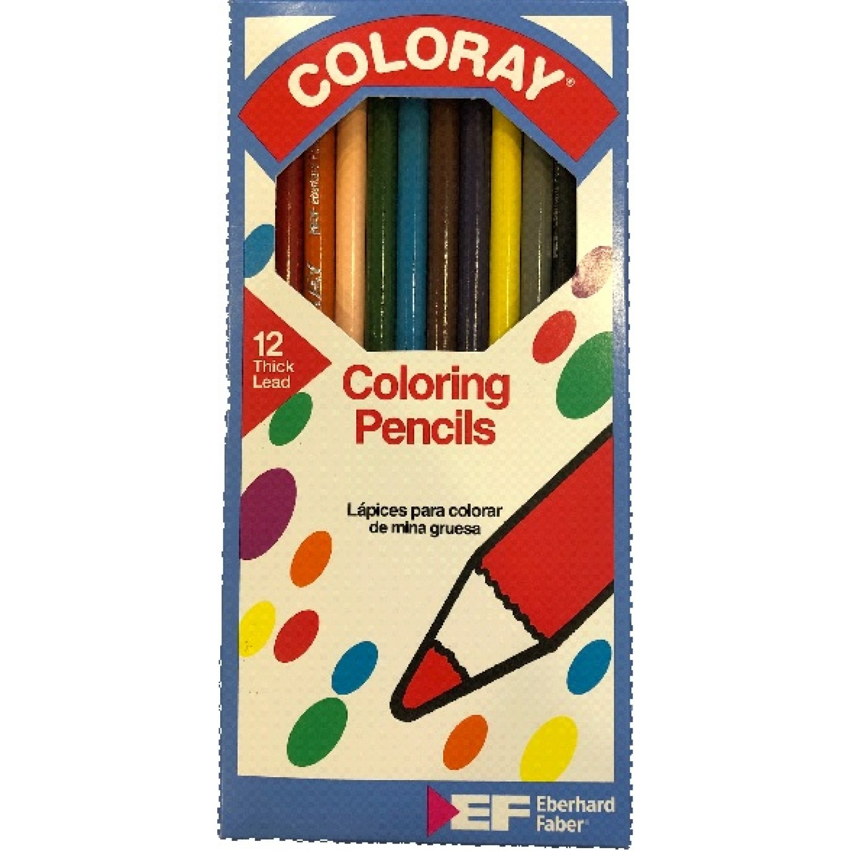 Faber COLORAY Coloring Pencils 7 inch 12 Color Set