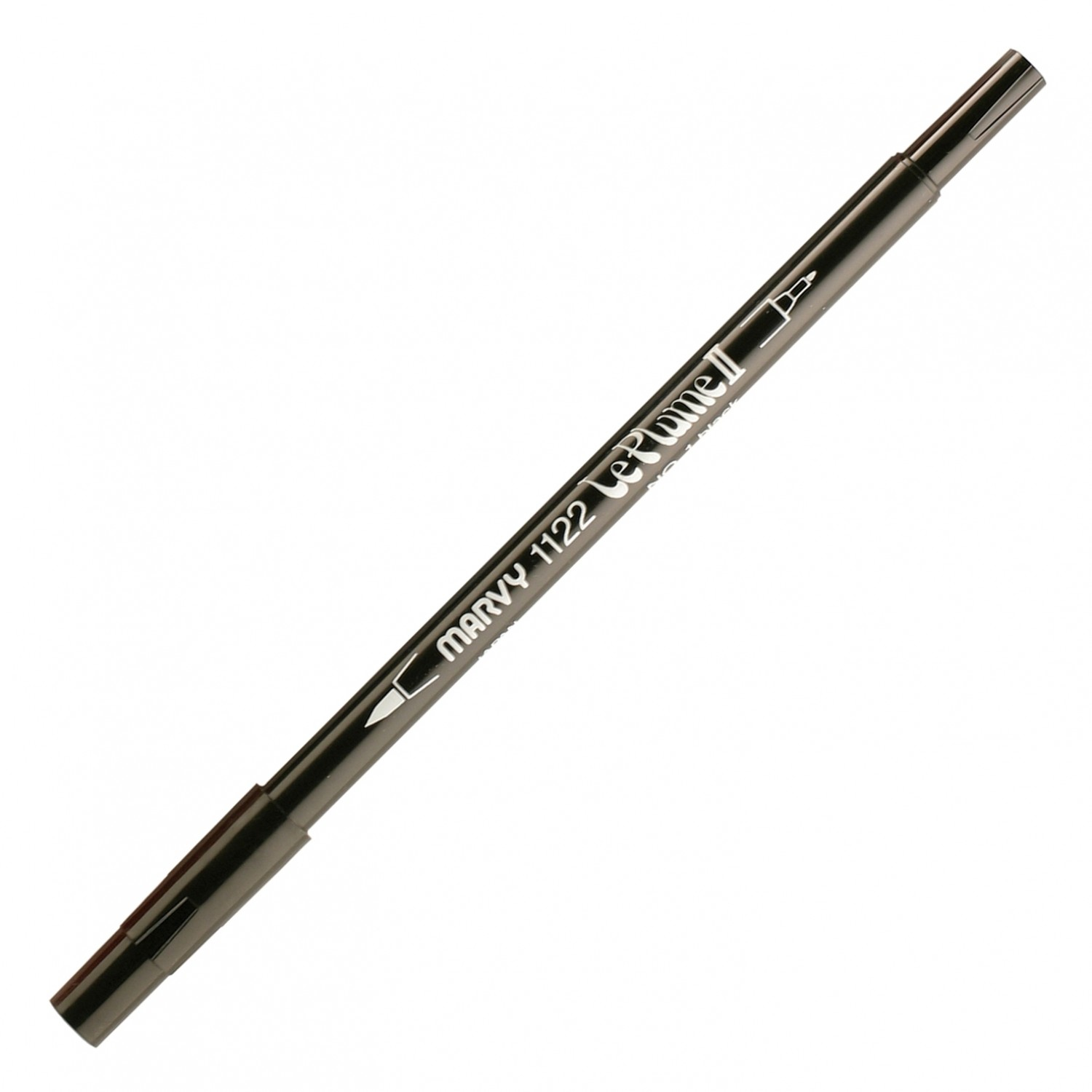 Marvy Le Plume II Double Ended Watercolor Marker, Black