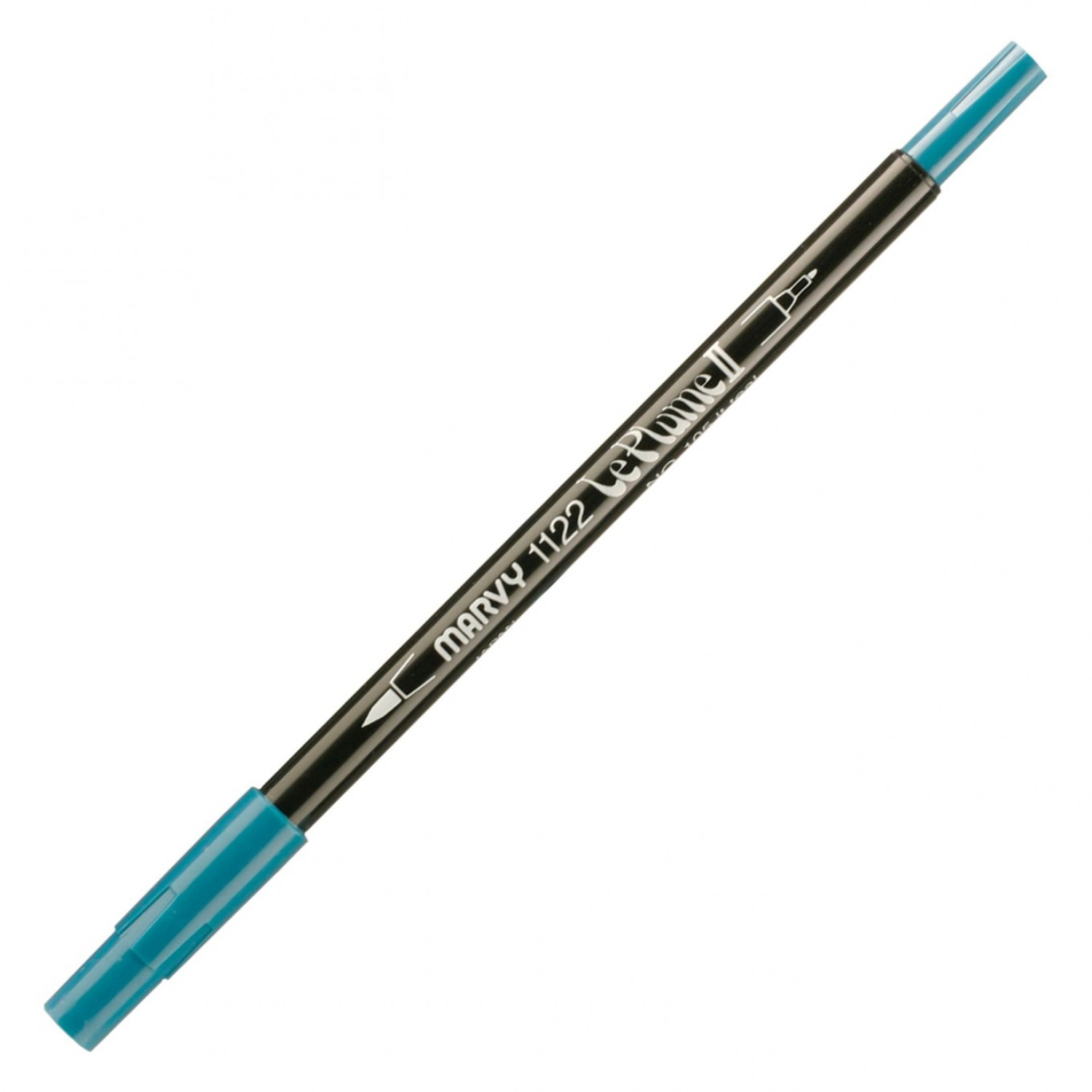 Marvy Le Plume II Double Ended Watercolor Marker, Light Teal
