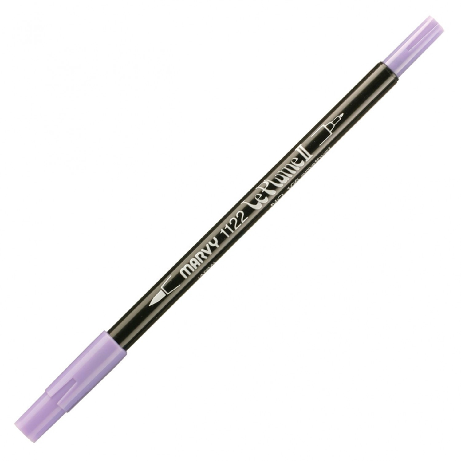 Marvy Le Plume II Double Ended Watercolor Marker, Amethyst