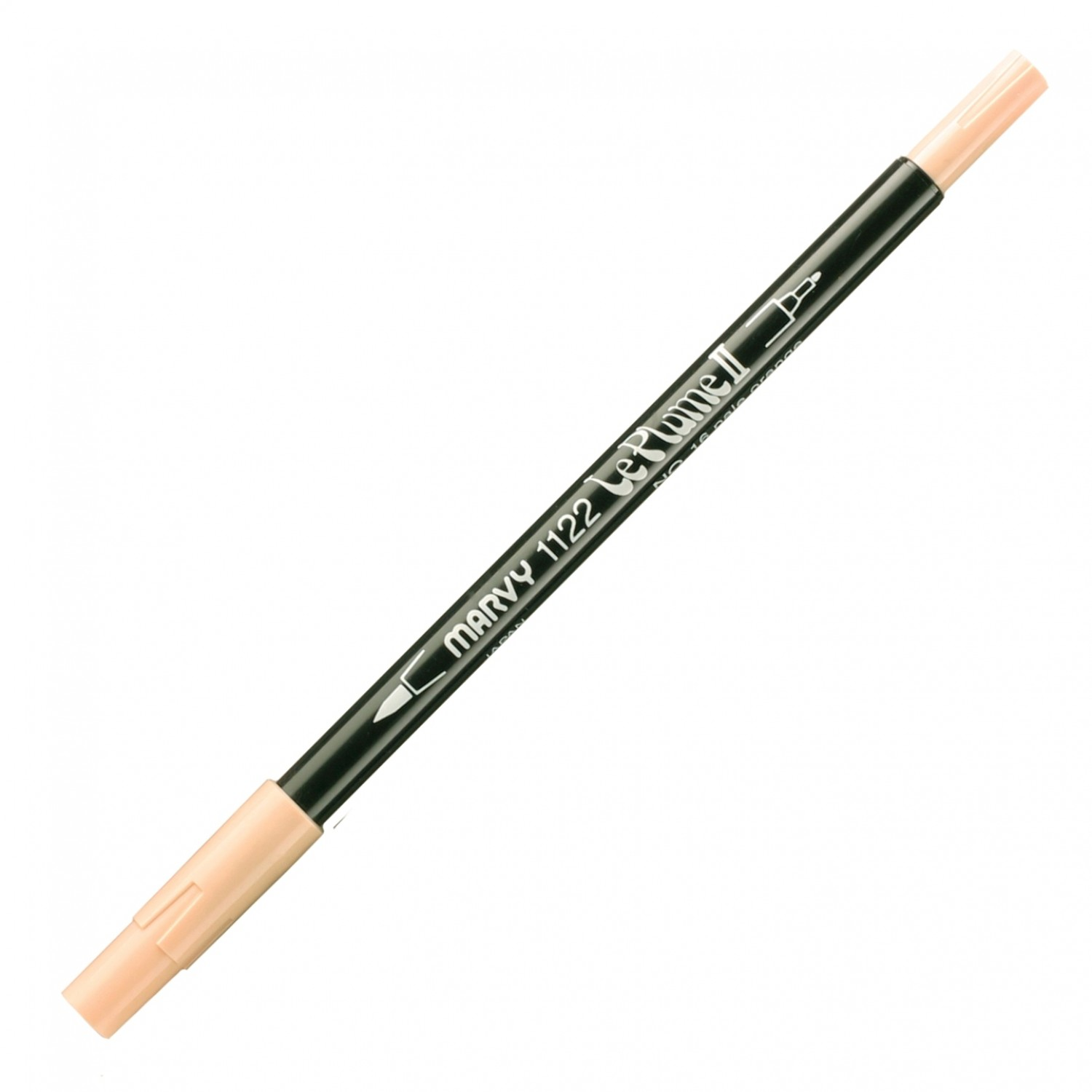 Marvy Le Plume II Double Ended Watercolor Marker, Pale Orange