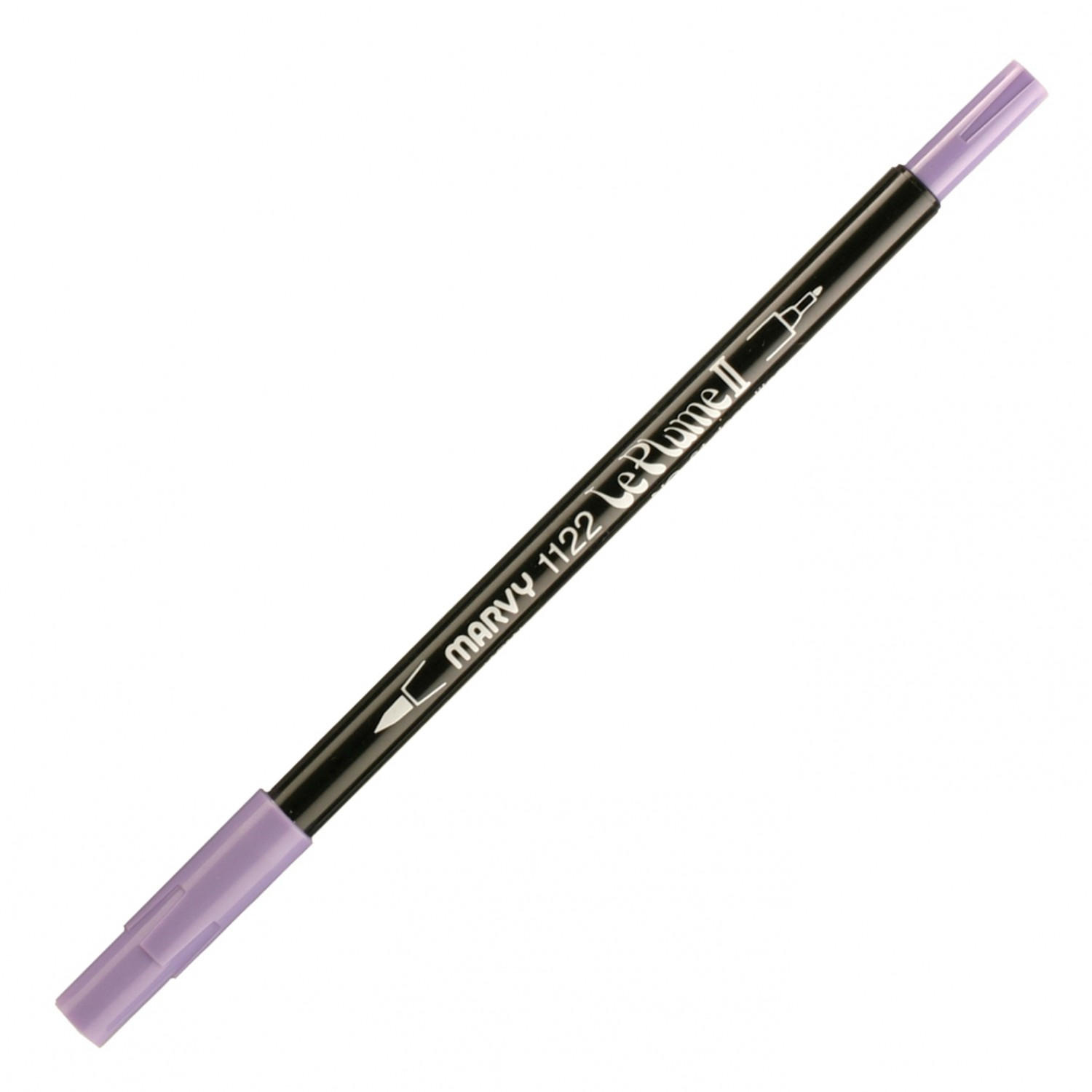 Marvy Le Plume II Double Ended Watercolor Marker, Deep Lilac