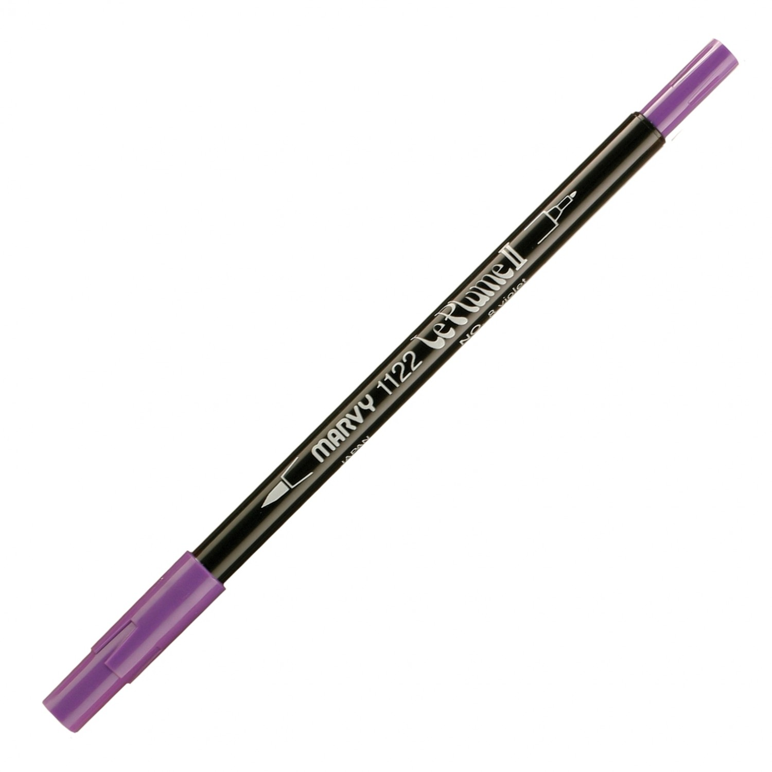 Marvy Le Plume II Double Ended Watercolor Marker, Violet
