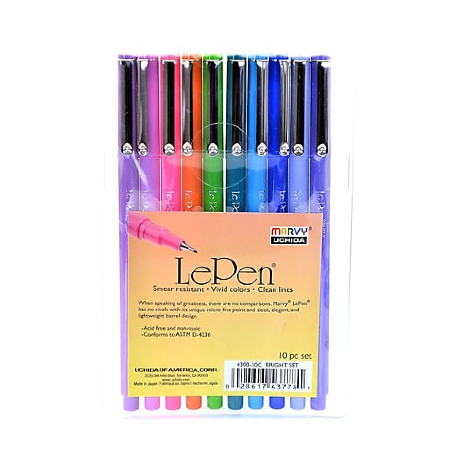 Marvy Le Pen, 0.3mm, 10pc Set