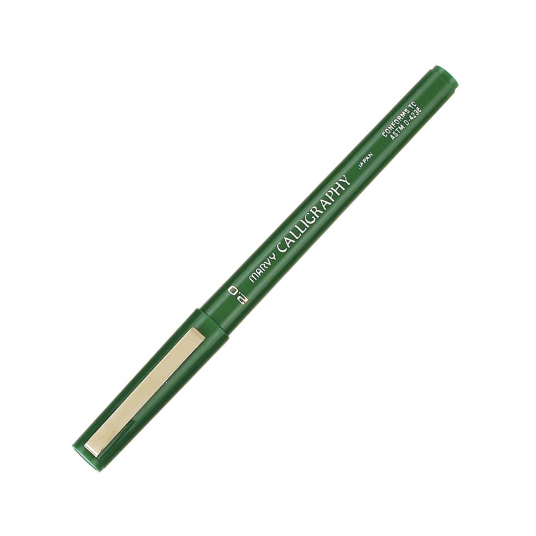 Marvy Calligraphy Pen, 2.0, Green