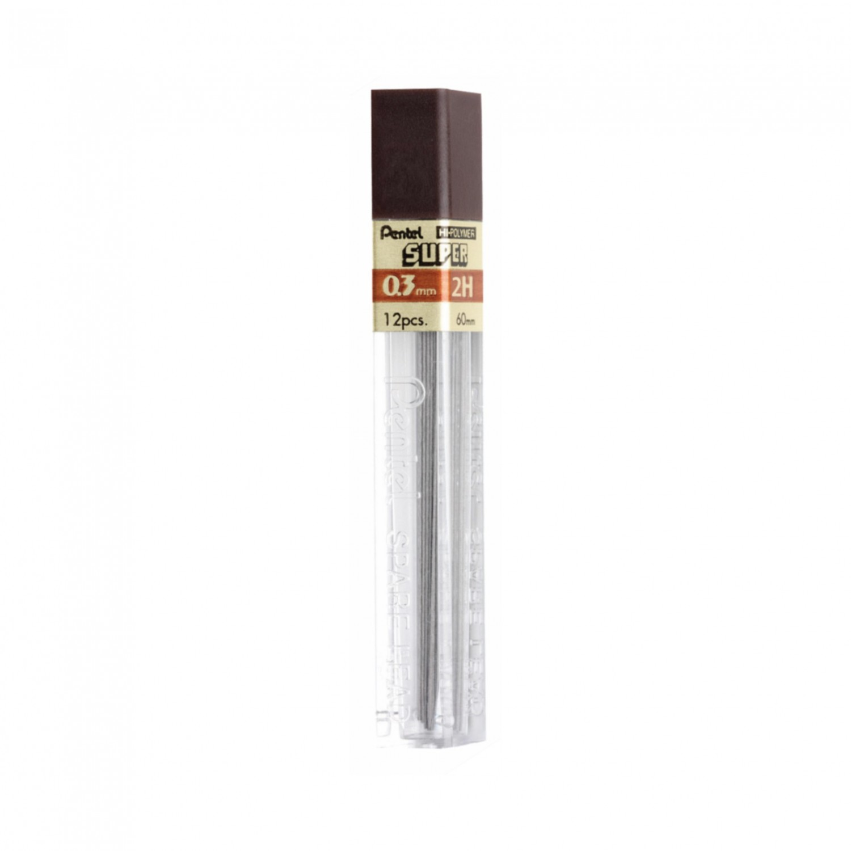 Pentel Super Hi-Polymer 0.3mm Extra-Fine Lead 12/pk