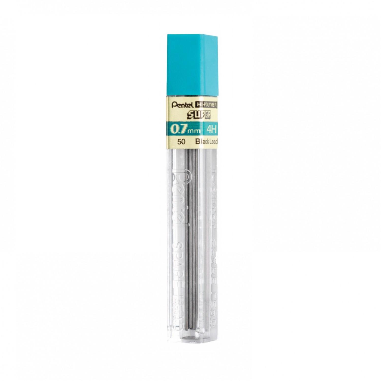 Pentel Super Hi-Polymer 0.7mm Medium Lead 12/pk