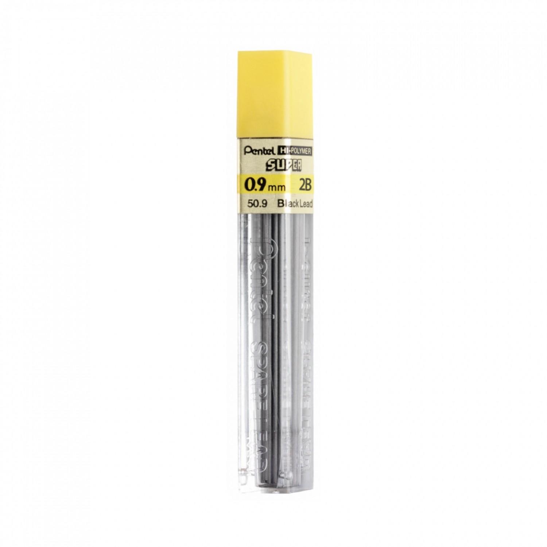 Pentel Super Hi-Polymer 0.9mm Thick Lead 15/pk