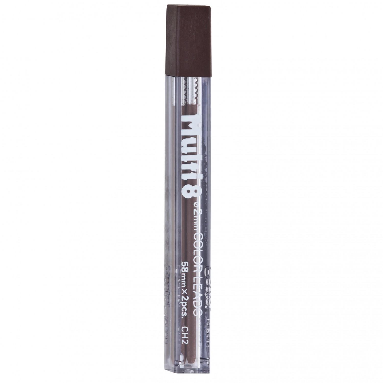 Pentel Multi 8 Color Leads, 2mm Brown
