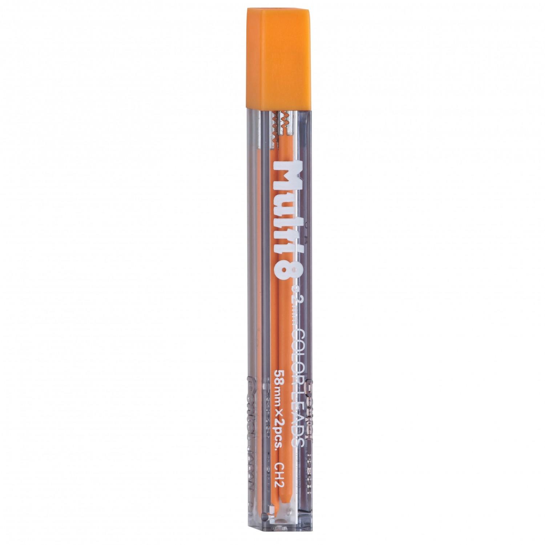Pentel Multi 8 Color Leads, 2mm Orange