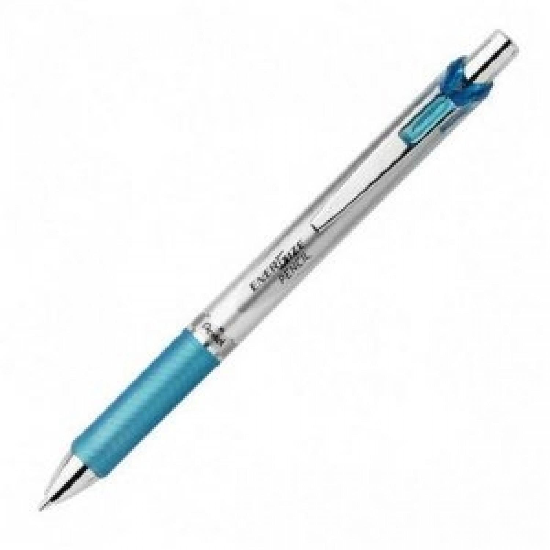 Pentel EnerGize Auto Pencil 0.5mm Trans Tip, Sky Blue