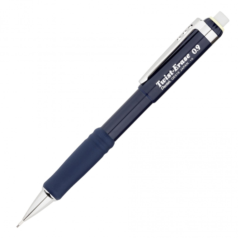 Pentel Twist-Erase III Automatic Pencil 0.9mm Blue Barrel