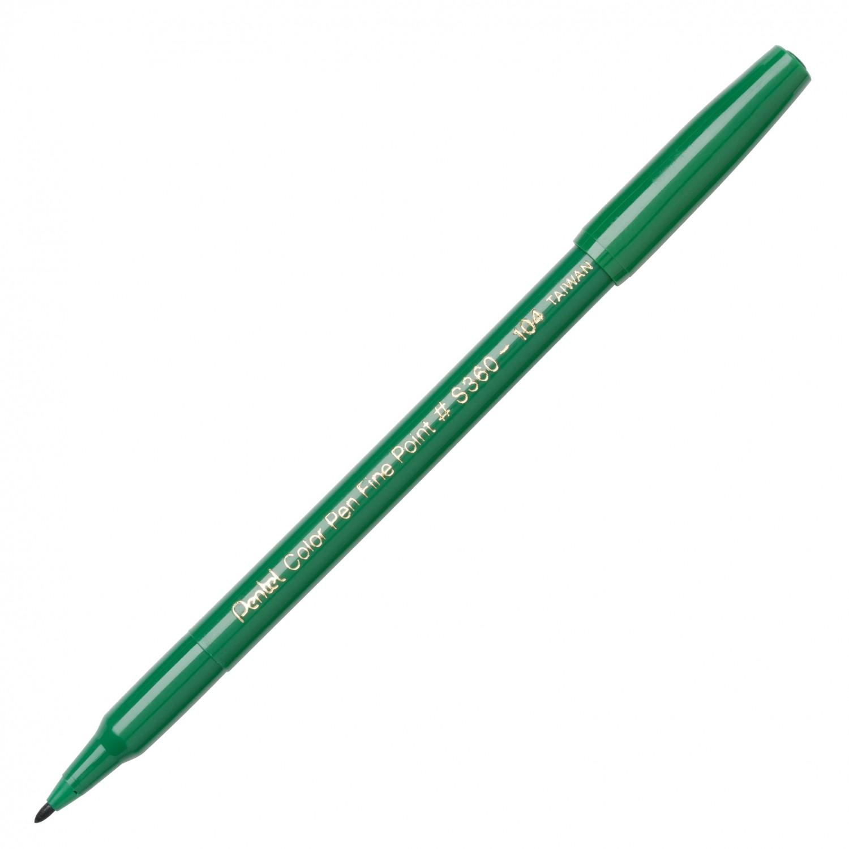 Pentel Color Pen, Fine Pt Green