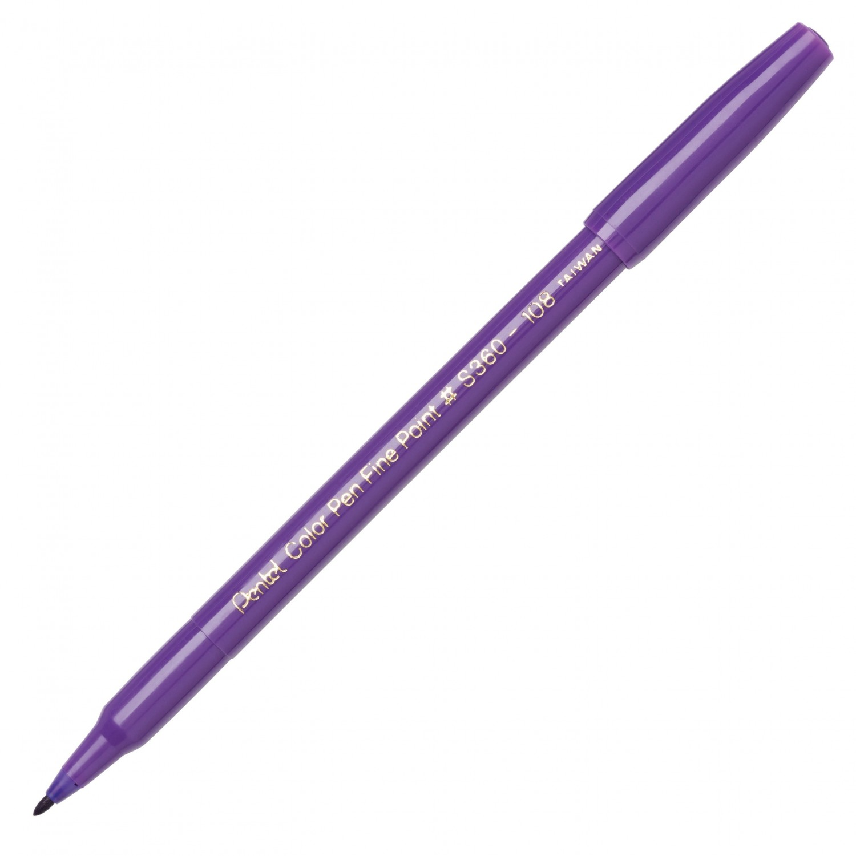 Pentel Color Pen, Fine Pt Violet