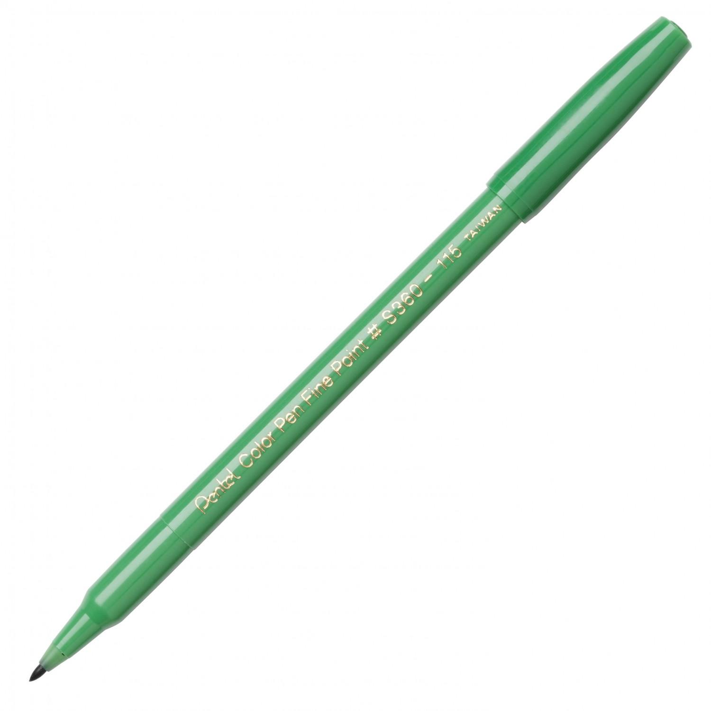 Pentel Color Pen, Fine Pt Olive Green