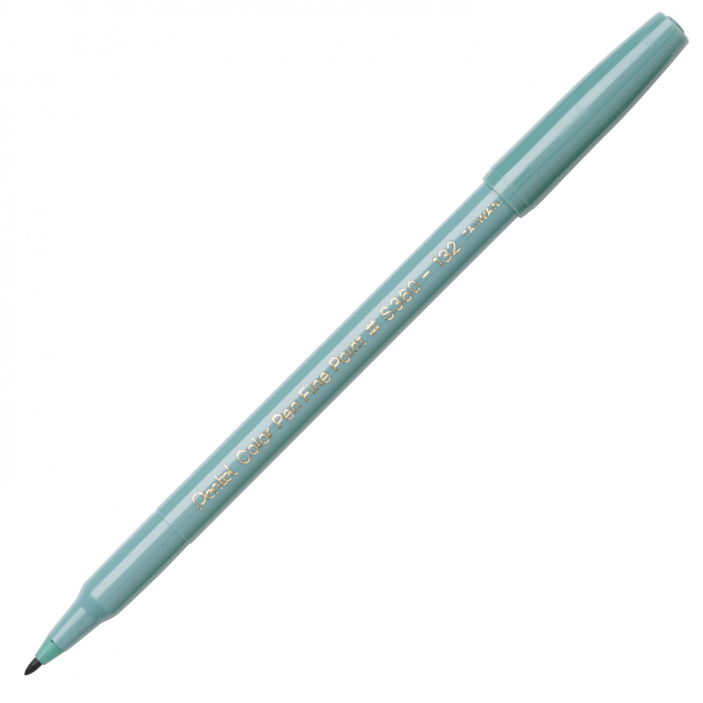 Pentel Color Pen, Fine Pt Grayish Green