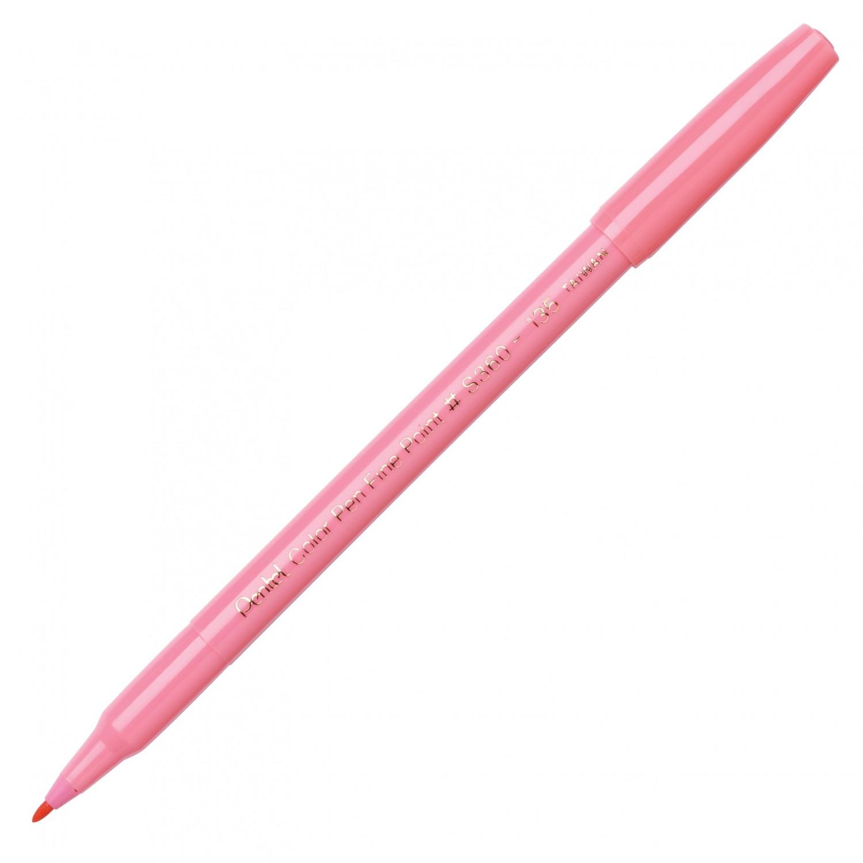 Pentel Color Pen, Fine Pt Coral Pink