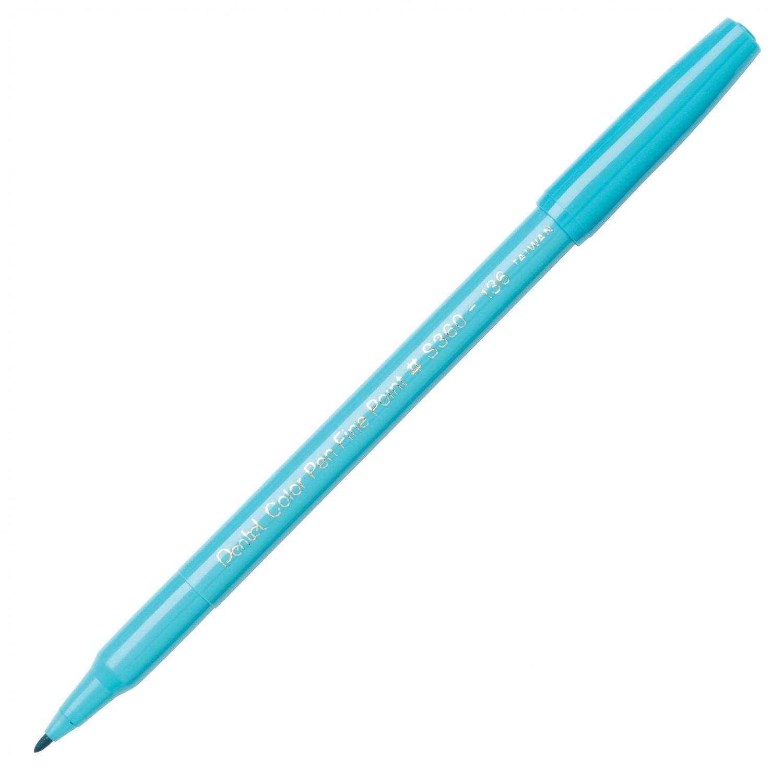 Pentel Color Pen, Fine Pt Baby Blue