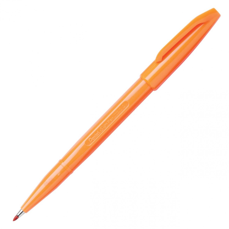 Pentel Sign Pen, Fine Pt Orange