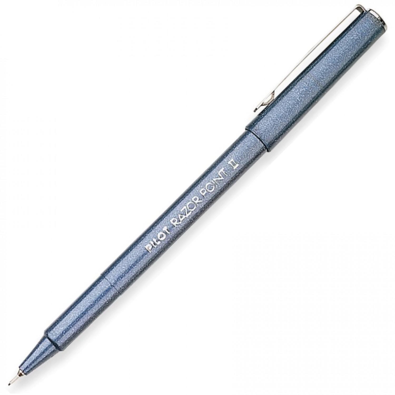 Pilot SW-R Razor Point II Marker Pen, Super Fine, Blue
