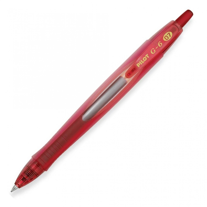 Pilot G6-7 Retractable Gel Rollerball, Fine, Red